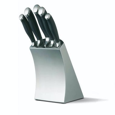 Master Class Trojan 5 Piece Knife Set and Stainless Steel Block