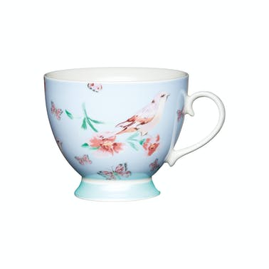 KitchenCraft Set of Four China Blue Birds Mugs