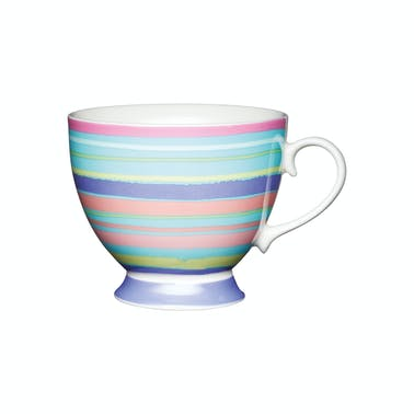 KitchenCraft Set of Four China Bright Stripe Mugs