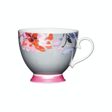 KitchenCraft Set of Four China Floral Border Mugs