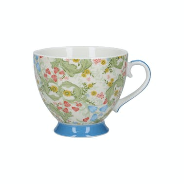 KitchenCraft China Dawn Floral 400ml Footed Mug