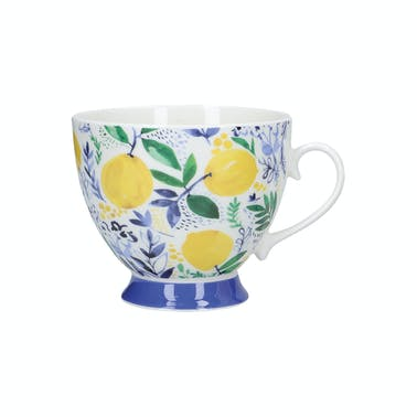KitchenCraft China Sweet Lemon 400ml Footed Mug