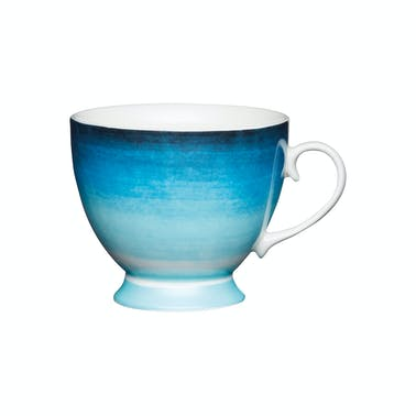 KitchenCraft Set of Four China Ombre Stripe Footed Mugs