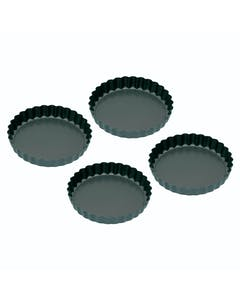 Photo of KitchenCraft Set of Four Non-Stick Mini Fluted Flan Tins