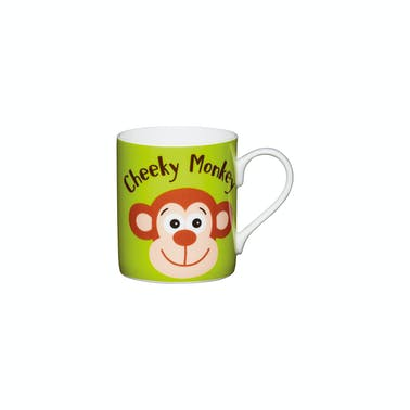 KitchenCraft Set of China Cheeky Monkey Mini Mugs
