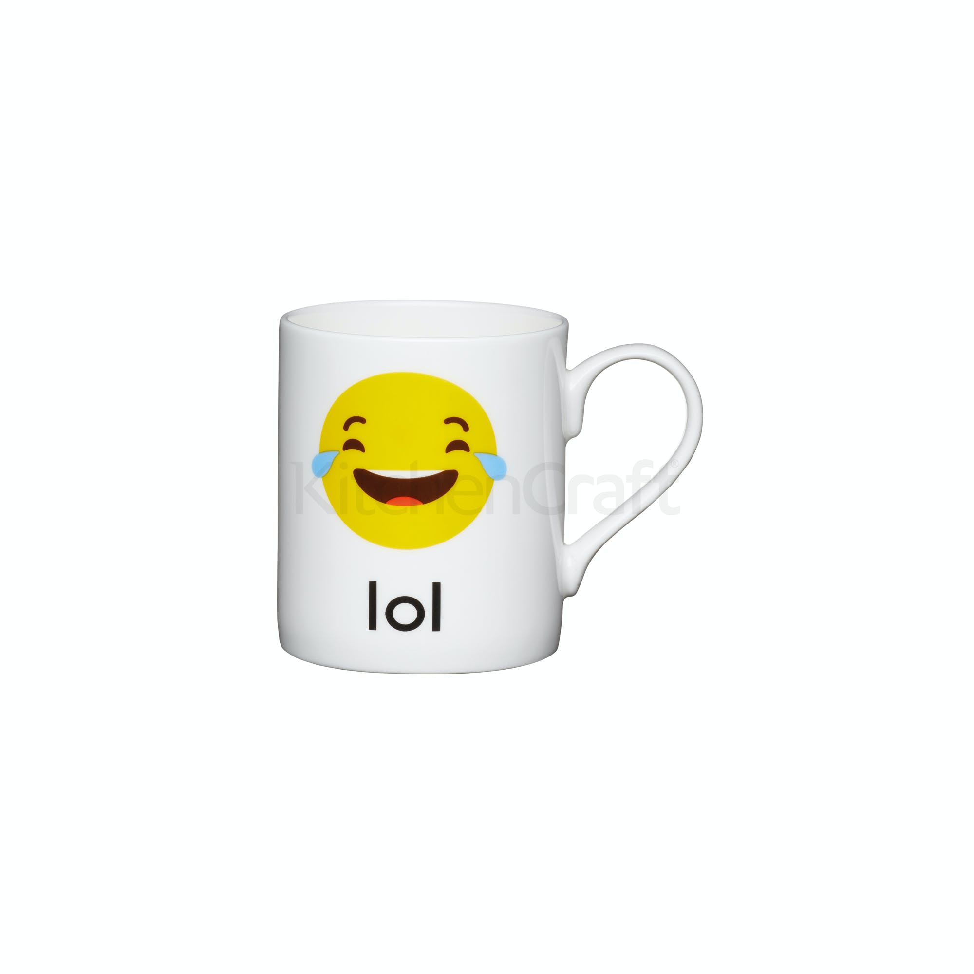 Kitchencraft Set Of China Lol Emoji Face Mini Mugs All