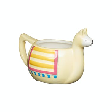 KitchenCraft Painted Ceramic Novelty Llama Mug