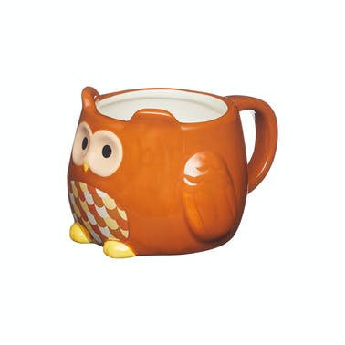 KitchenCraft Painted Ceramic Novelty Owl Mug