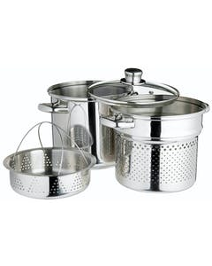 Photo of KitchenCraft Stainless Steel 7.5 Litres Multi Cooker