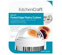 KitchenCraft Set of Three Fluted Pastry Cutters