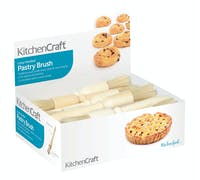 KitchenCraft Display of Wood and Pure Bristle Pastry Brushes