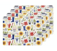 KitchenCraft Home-grown Cork Back Laminated Set of 4 Placemats