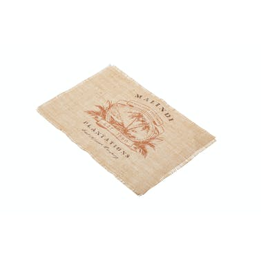 KitchenCraft Woven Hessian Print Placemat