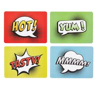 KitchenCraft Comic Strip Cork Back Laminated Set of 4 Placemats