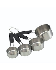Photo of MasterClass Stainless Steel 4 Piece Measuring Cup Set