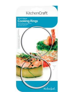 Photo of KitchenCraft Set of Two Stainless Steel Extra Deep Cooking Rings