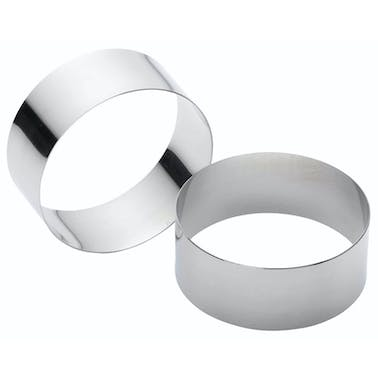 KitchenCraft Set of Two Stainless Steel Large Cooking Rings