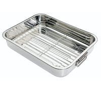 KitchenCraft Stainless Steel 38cm x 27.5cm Roasting Pan