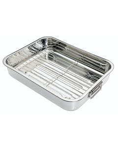 Photo of KitchenCraft Stainless Steel 38cm x 27.5cm Roasting Pan