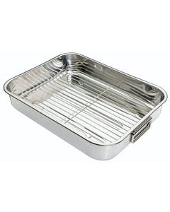 Photo of KitchenCraft Stainless Steel 43cm x 31cm Roasting Pan