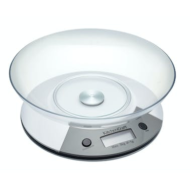 KitchenCraft Add 'N' Weigh Electronic Scales 3Kg