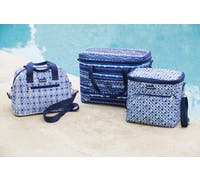 KitchenCraft Santorini Geometric Pattern Holdall 11.5 Litres Cool Bag