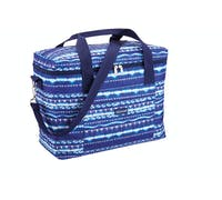 KitchenCraft Santorini Large Blue Family 21 Litre Cool Bag