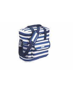 Photo of KitchenCraft Lulworth Nautical-Striped Medium Cool Bag
