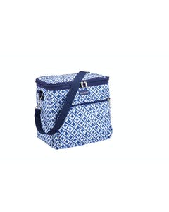 Photo of KitchenCraft Santorini Blue Tile Medium 12 Litre Cool Bag