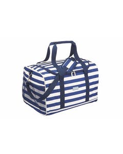 Photo of KitchenCraft Lulworth Extra-Large Nautical-Striped Family Cool Bag