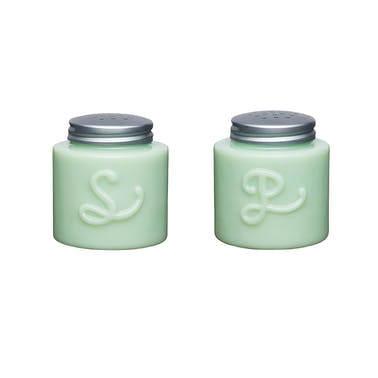 KitchenCraft Serenity Milk Glass Salt and Pepper Shakers