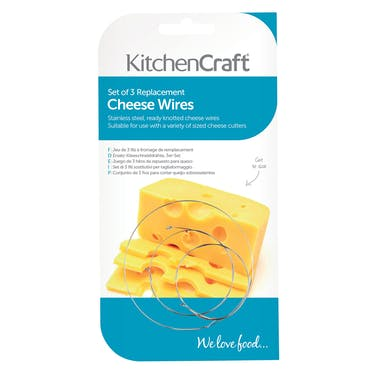 KitchenCraft Set of 3 Spare Cheese Slicing Wires