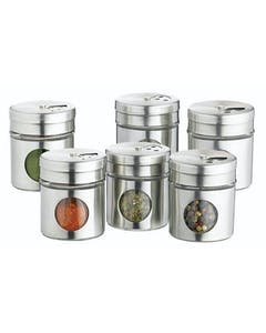 Photo of Home Made Set of 6 Stainless Steel Spice Jars