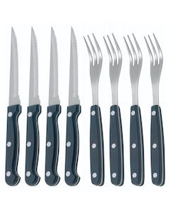 Photo of KitchenCraft Deluxe 8 Piece Steak Knife and Fork Set
