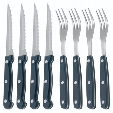 KitchenCraft Deluxe 8 Piece Steak Knife and Fork Set