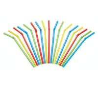 KitchenCraft Pack of 125 Plastic Drinks Straws