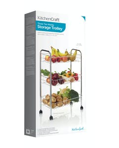 Photo of KitchenCraft Chrome Plated Three Tier Trolley