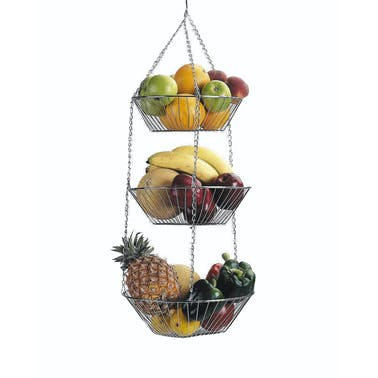 KitchenCraft Three Tier Hanging Vegetable / Fruit Basket
