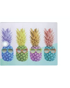 Photo of KitchenCraft Toughened Glass Rectangular Worktop Protector - Pineapple