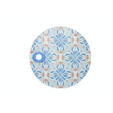 KitchenCraft Toughened Glass Round Worktop Protector - Tile