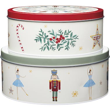 KitchenCraft The Nutcracker Collection Storage Tins