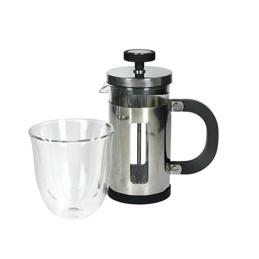 La Cafetière Mini Cafetiere Gift Set (with Double-Wall Coffee Glass and 1-Cup French Press)