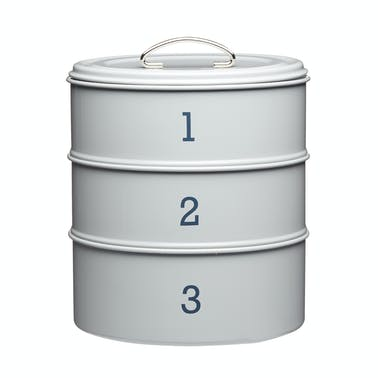 Living Nostalgia French Grey Three Tier Cake Tin Set