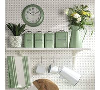 Living Nostalgia Large Metal Bread Bin - English Sage Green