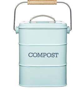 Photo of Living Nostalgia Vintage Blue Compost Bin