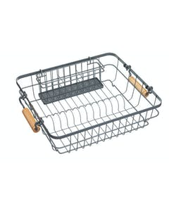 Photo of Living Nostalgia Wire Dish & Cutlery Drainer