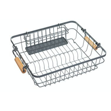 Living Nostalgia Wire Dish & Cutlery Drainer