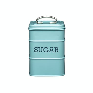 Living Nostalgia Vintage Blue Sugar Tin