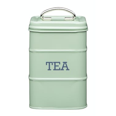 Living Nostalgia Metal Tea Caddy - English Sage Green
