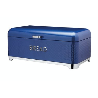 Lovello Textured Bread Bin - Midnight Blue